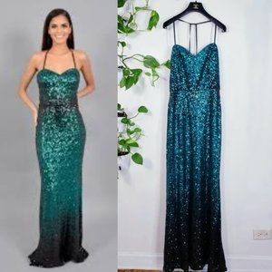 NWT Betsy & Adam All Sequins sparkle Mermaid Gown